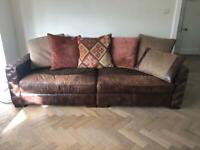 Barker and stonehouse sofa and snuggle chair