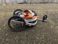 Bike trailer for kids , double or single seat , also a buggy.