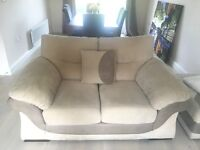 DFS Sofa set - 3 Seater, 2 seater and storage pouffe