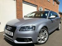 2010 60 Audi A3 Sportback S-Line 2.0 TDI CR 140bhp Only 89,000 Miles £30 Roadtax FSH not 1.9 a4 golf