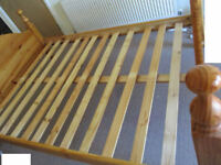 double bed pinewood frame