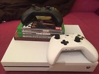 Xbox one s 1TB w/ extra controller and games!