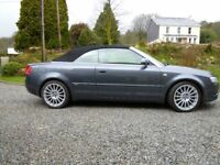 Audi A4 Convertible, 2.0 TDI S Line. Dolphin Grey. 63500 miles. 2007