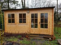 Log Cabin in 45mm timber. 3.5mx4.5m Floor 32mm. Roof 19mm + insulation