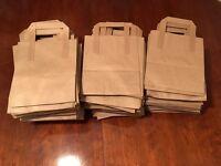 240 biodegradable brown paper bags/ food grade packaging/ shop bags