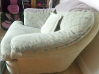 unwanted -3 PIECE CREAM colourSOFAS with washable covers