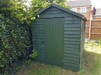 Shed 8x6, dry, in good condition, has new roof.