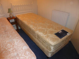 """2 foot 6 inch (2'6"""") Single Bed with Mattress and Headboard"""