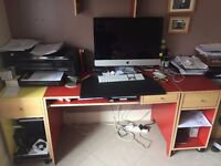 Desk and bookcase (Ikea Billy range)