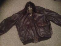 stunning vintage high quality leather pilot jacket