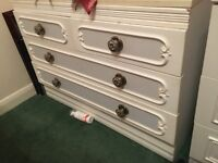 White Chest of Drawers GREAT SHABBY CHIC PROJECT VERY STURDY