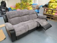 "Black Leather Recliners ""2 seater"" & ""3 seater"" sofa new stock ""Limited numbers"""