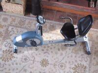 Recumbent exercise cycle / bike