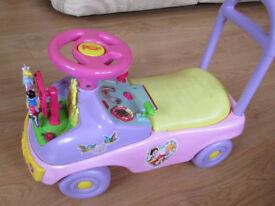 Disney Activity push and ride-on car