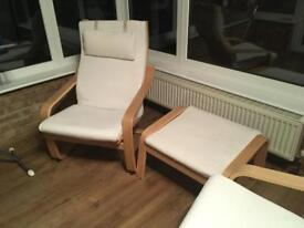 Ikea chairs and footstool