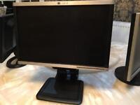 HP Computer Desktop 19 inch monitor screen widescreen LCD