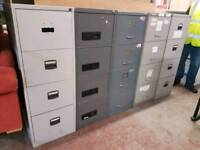 Metal four drawer filing units (x8 available)