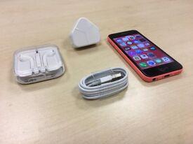 Pink iPhone 5c 8GB On Vodafone / Lebara Networks Mobile Phone +Warranty