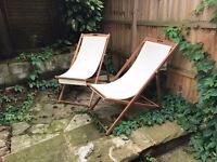 2 comfortable and chic outdoor garden lounge chairs - £25
