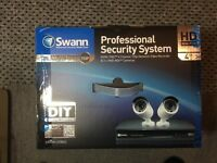 BRAND NEW Swann HD nvr ip Poe cctv security system 2xhd cameras, 1tb hdd, motion detection