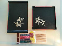 Oriental / Chinese / Japanese Style Food Trays & Chopsticks (NEW)