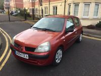 RENAULT CLIO 1.2 PETROL,12 MONTHS MOT,LOW INSURANCE GROUP.