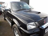 2004 MITSUBISHI L200 WARRIOR BLACK , 3 MONTHS WARRANTY , CLEAN ONLY 100K
