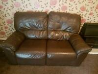 Brown leather sofa recliner dfs sofa excellent condition