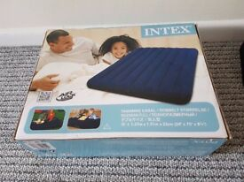 intex double blow up inflateable bed brand new