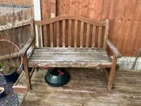SOLD. Solid wooden bench