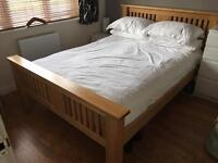 Solid Oak Double Bed from Archibalds / Sterling Furniture