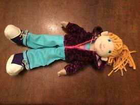LILY RAG DOLL from MANHATTAN TOYS OLIVIA as new but no box
