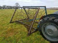 Tractor three point linkage grass harrows refurbished 16ft wide