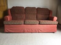 Free Sofa and two chairs, good clean condition, very comfortable