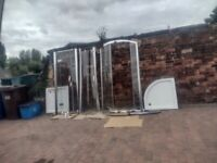 2 SHOWER TRAYS AND ENCLOSURES FOR SALE