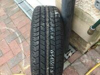 Brand new corsa tyre on metal rim 175 65 14
