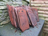 Re claimed clay pan tiles approximately 30.