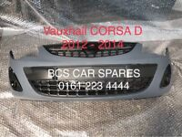 VAUXHALL CORSA D FACELIFT BRAND NEW FRONT BUMPER COMPLETE WITH GRILLS 2010 - 2015 RING FOR MORE INFO