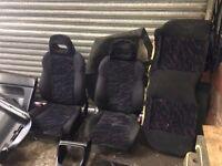 Honda Civic EK VTi VTiS SiR Prefacelift Red/Black Seats Interior