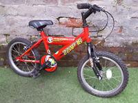 "5yrs+ RALEIGH ZZAP 16, 16"" Wheels, 10"" Frame Bike GC! SERVICED"