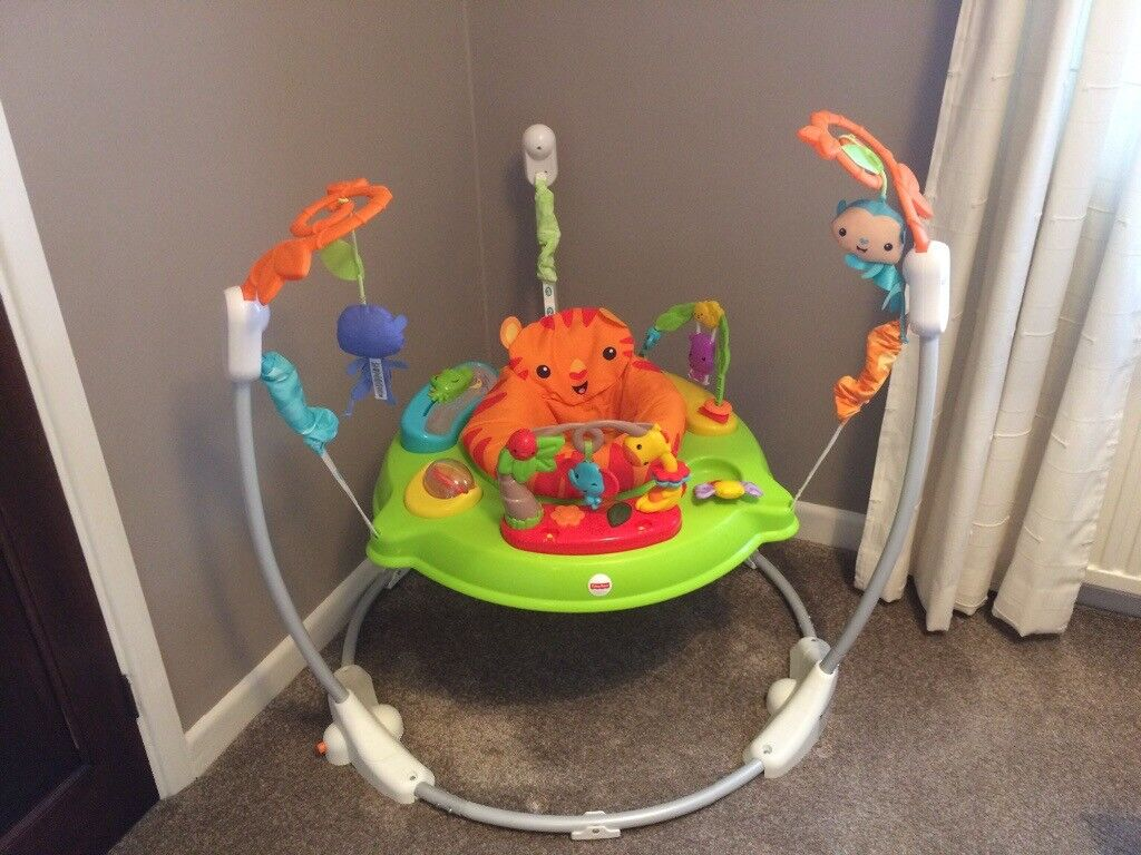 2fb6004a3 fisher price roaring rainforest jumperoo baby bouncer