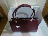 RADLEY LIVERPOOL STREET LARGE WORKBAG TOTE HANDBAG - BURGUNDY