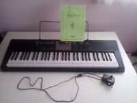 Keyboard Casio LK-INO with key lighting system and stickers, unwanted gift