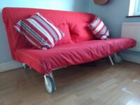 Sofa Bed. High quality mattress. Excellent Condition. Red cover.