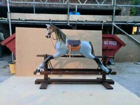 Traditional Large Wooden Rocking Horse