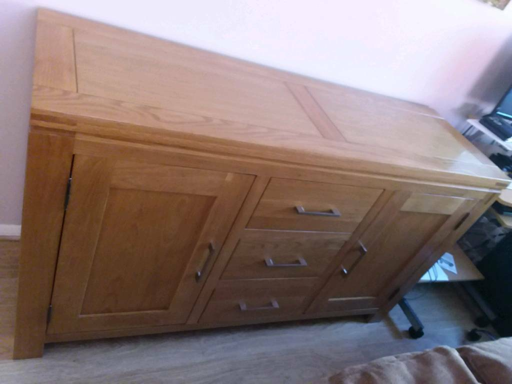 buy popular e4194 bae3f Wooden solid Oak MODENA FURNITURE VILLAGE SIDEBOARD excellent condition |  in Worthing, West Sussex | Gumtree