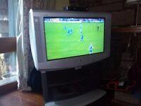 "TV - Large Sony Trinitron TV + Stand 32"""