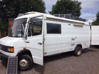 Mercedes 709 D motor home 1988 . Low mileage and VGC