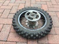 Pit bike rear wheel