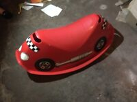 Child's car rocking chair toy